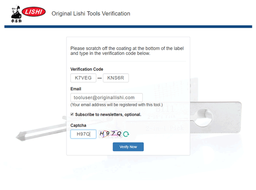 Tool Verification Help | Original Lishi Tools